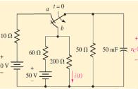 روش حل مدار مرتبه اول، مثال ۱