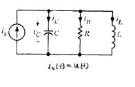 پاسخ پله مدار RLC