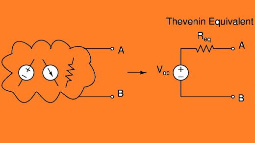 مدار معادل تونن و نورتن، مثال ۱
